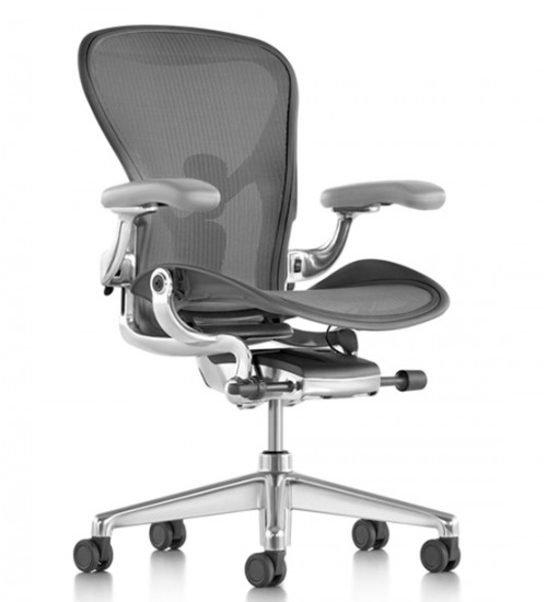 Herman Miller Aeron New Polished leather